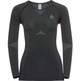 Odlo Performance Light Crew Neck LS Shirt Women black-odlo graphite grey